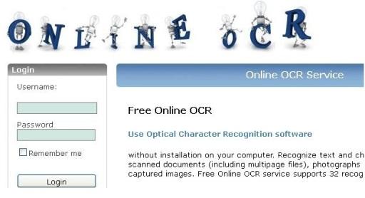Online OCR Service